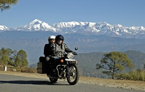 Riding with Kathy in northern India
